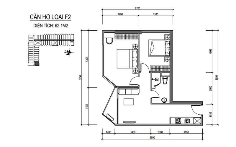 Mô hình căn hộ dự án Apec Mandala Huế