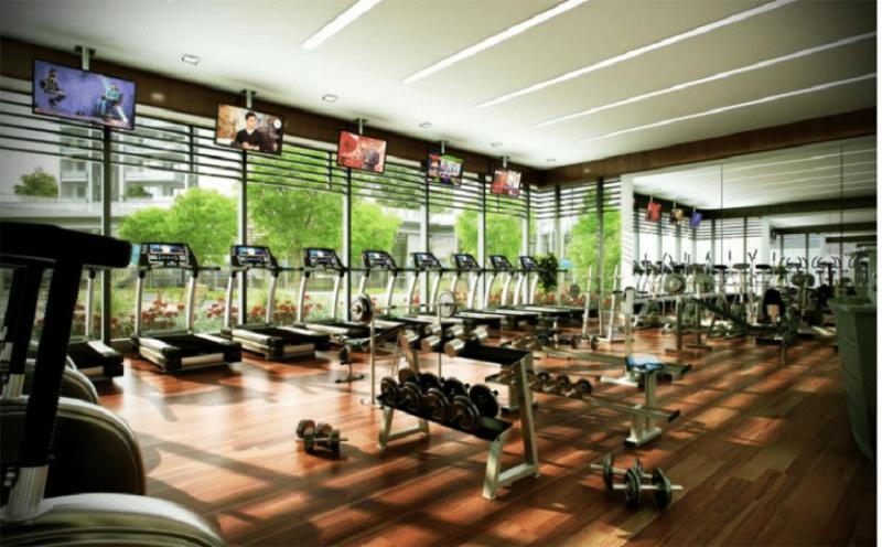 Phòng tập gym bố trí trang thiết bị hiện đại