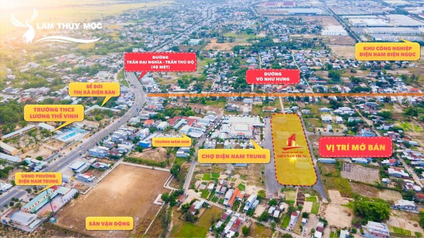 Khu phố chợ Điện Nam Trung tọa lạc vị trí đắc địa