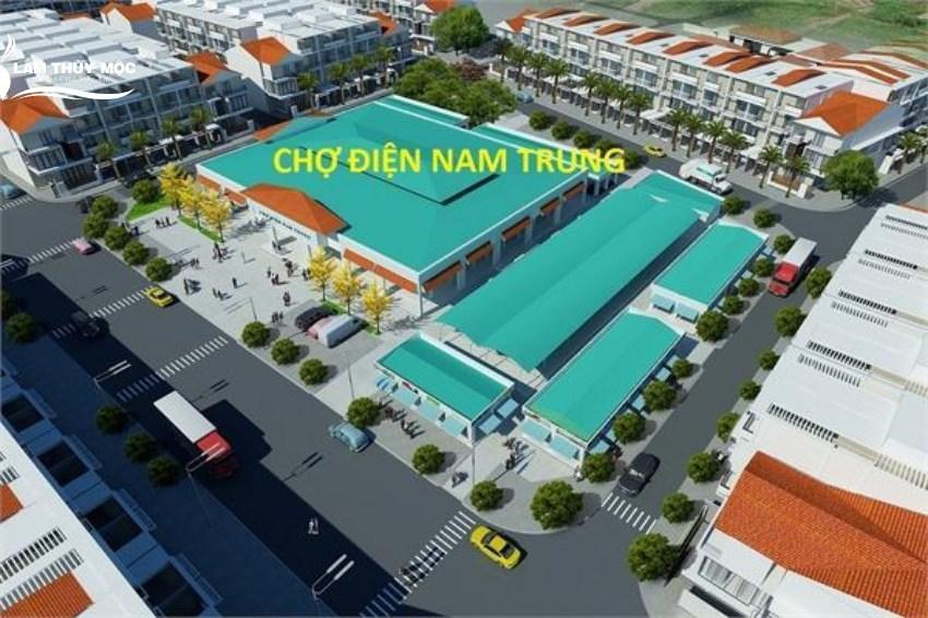 Phối cảnh dự án khu phố chợ Điện Nam Trung