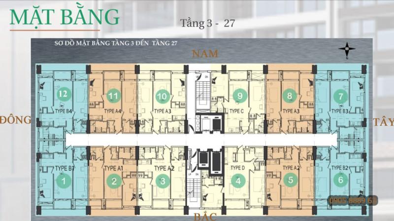 Mặt bằng tầng dự án Hiyori Garden Đà Nẵng