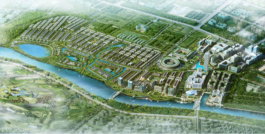 Phối cảnh toàn dự án khu đô thị FPT Đà Nẵng