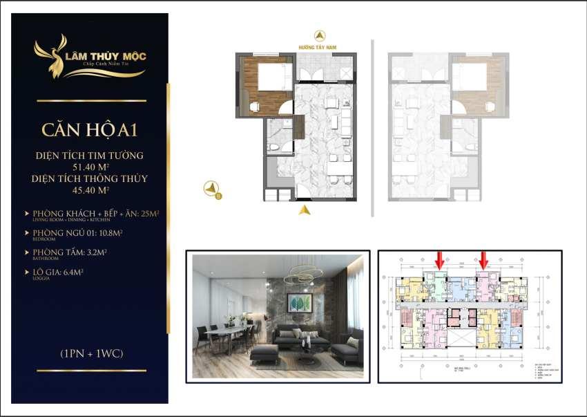 Thiết kế căn hộ dự án The First Minh Linh Compound