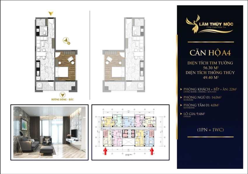 Thiết kế căn hộ The First Minh Linh Compound