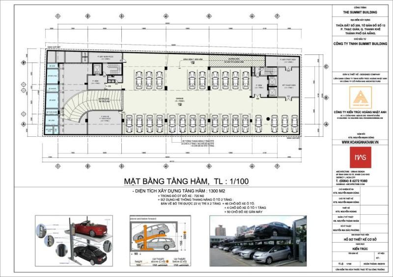 Mặt bằng tầng hầm dự án The Summit Building Đà Nẵng