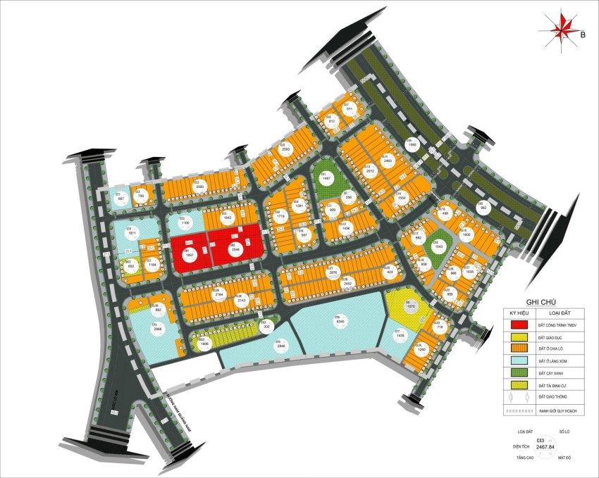 Mặt bằng dự án Tam Kỳ Central City