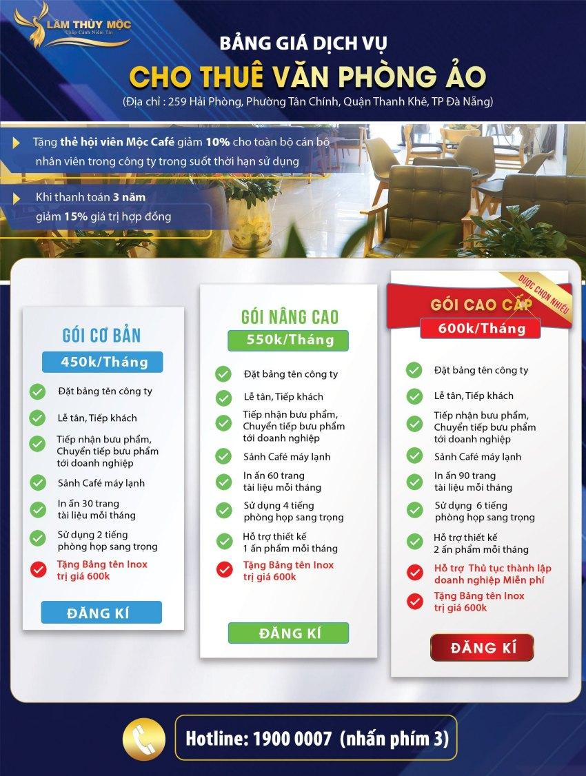 Giá thuê văn phòng ảo tại Đà Nẵng