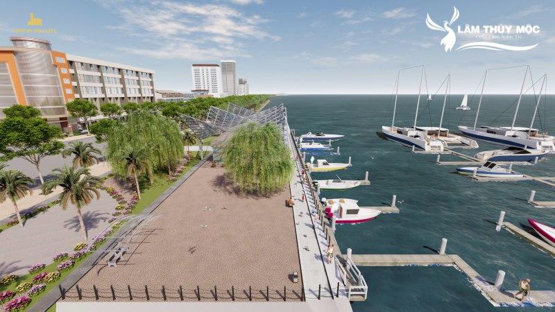Bến du thuyền hiện đại nội khu dự án