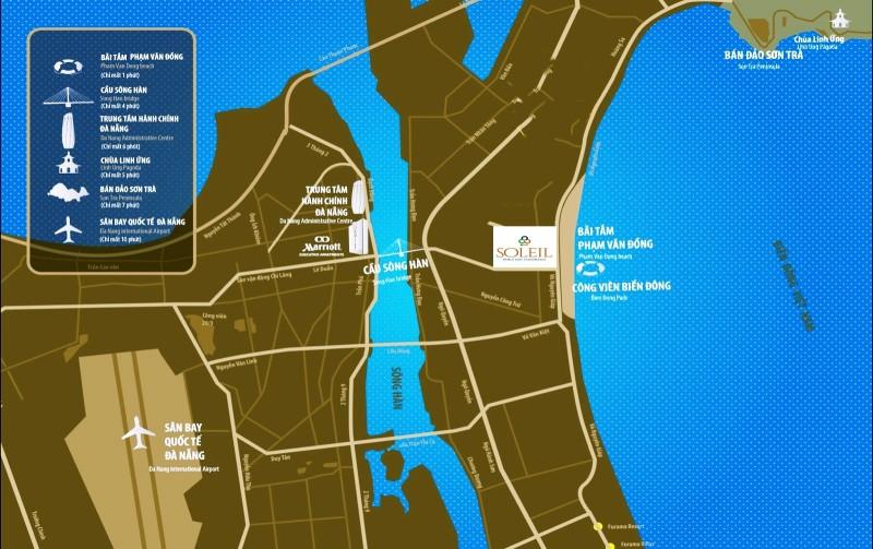 Vị trí dự án Condotel Soleil Đà Nẵng