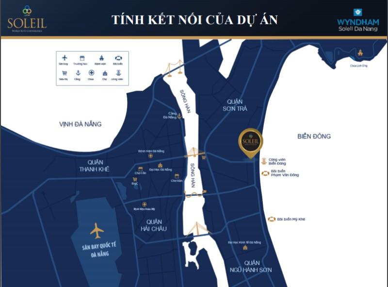 Dự án Wyndham Soleil Đà Nẵng có liên kết vùng đa dạng